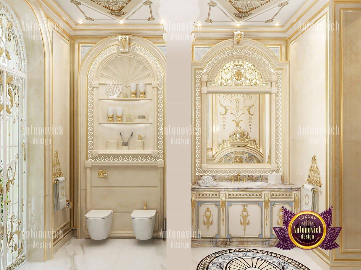 biệt thự cổ điển 10x18m phòng tắm