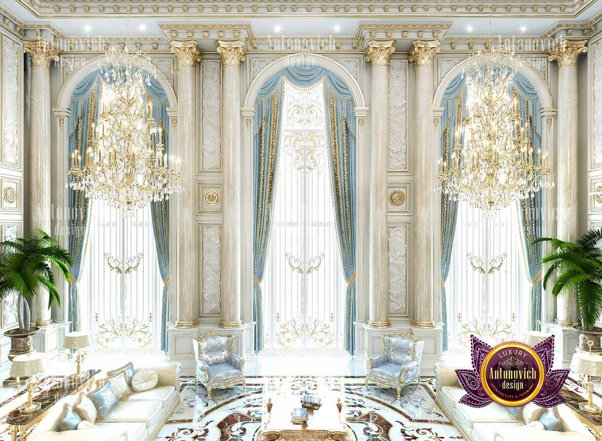 biệt thự cổ điển 10x18m phòng khách