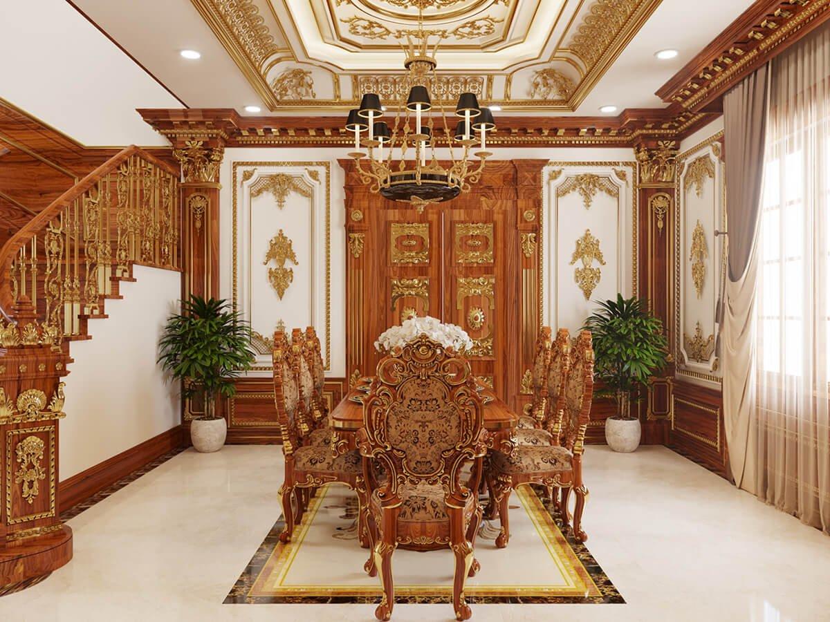 biệt thự cổ điển 2 tầng đẹp