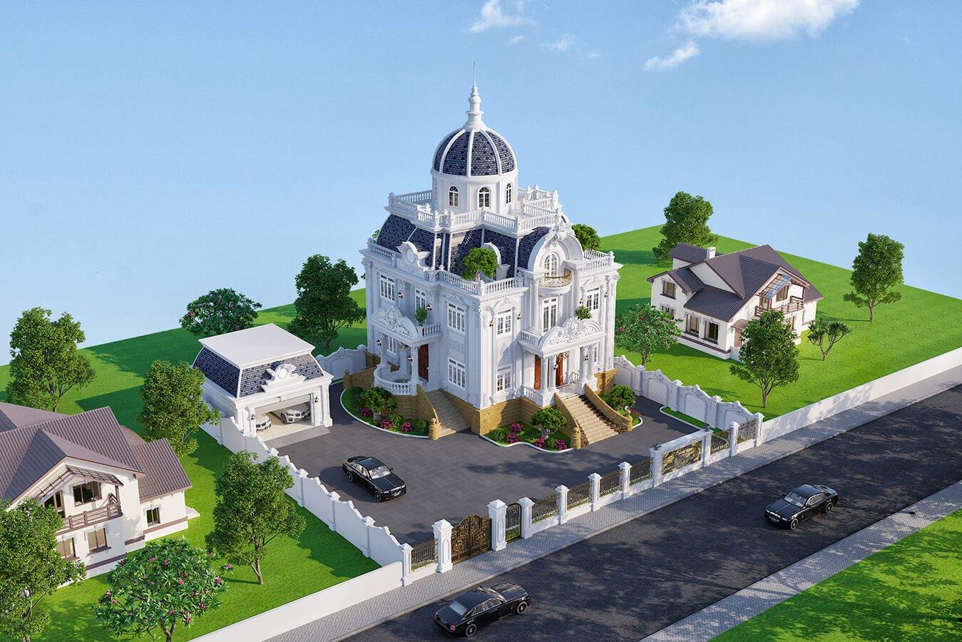 biệt thự cổ điển 215m2
