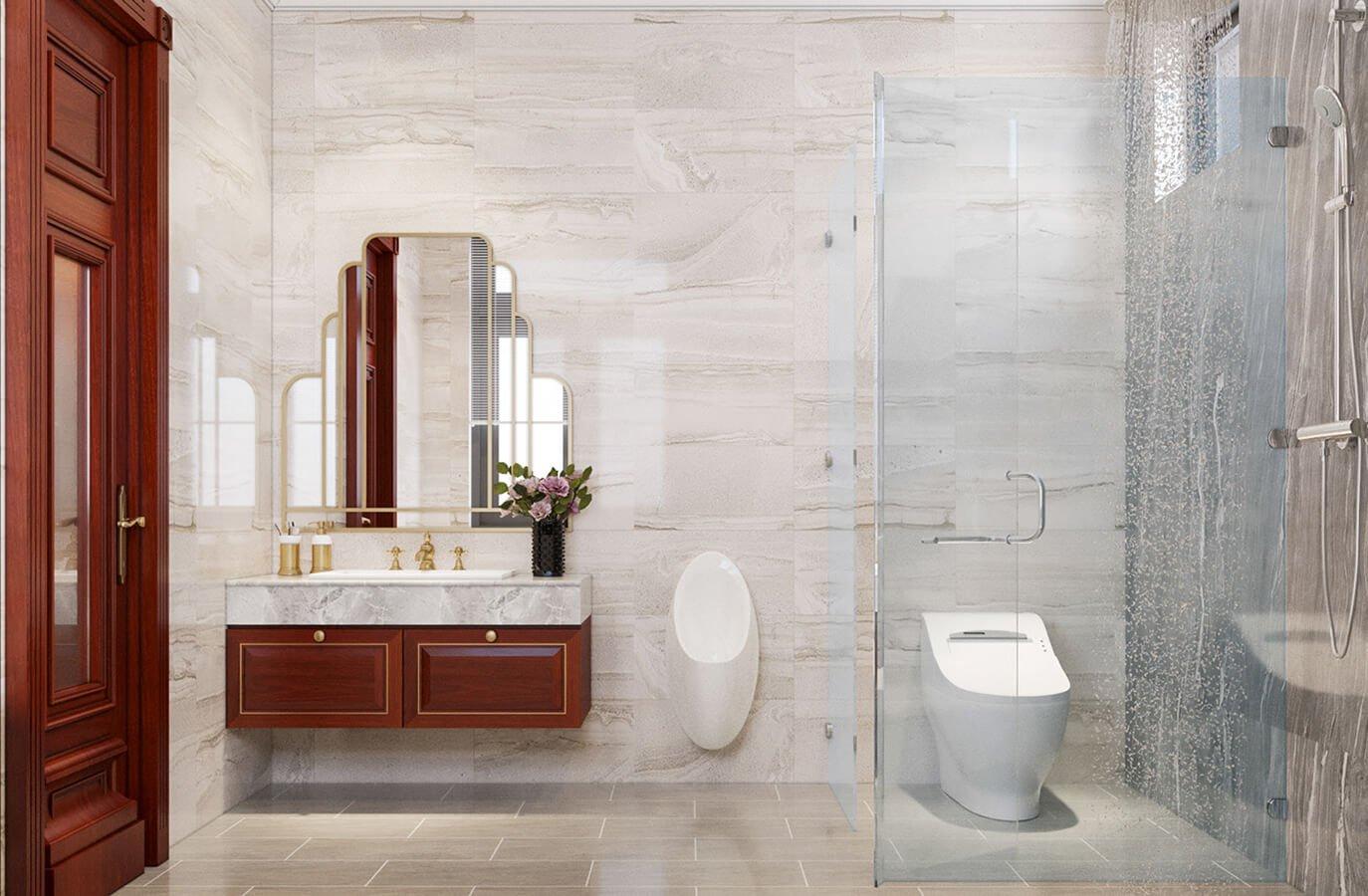 biệt thự cổ điển 215m2 phòng tắm