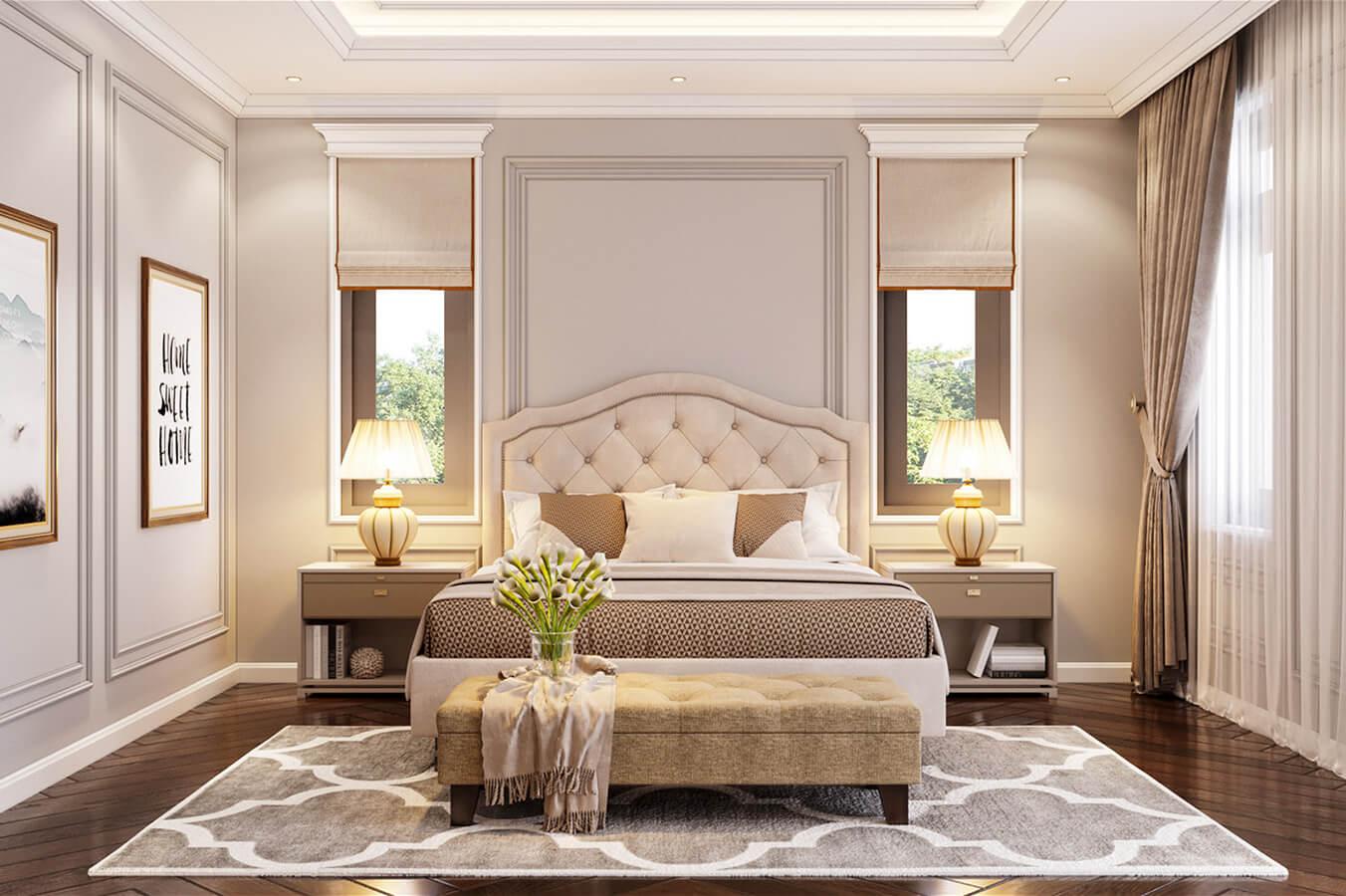 biệt thự cổ điển 215m2 phòng ngủ dành cho khách