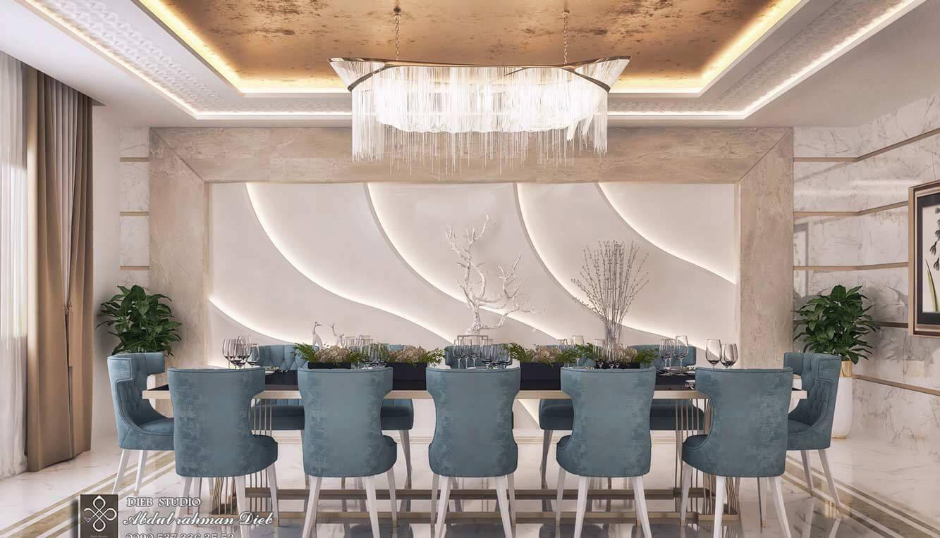 biệt thự cổ điển 370m2 phòng ăn