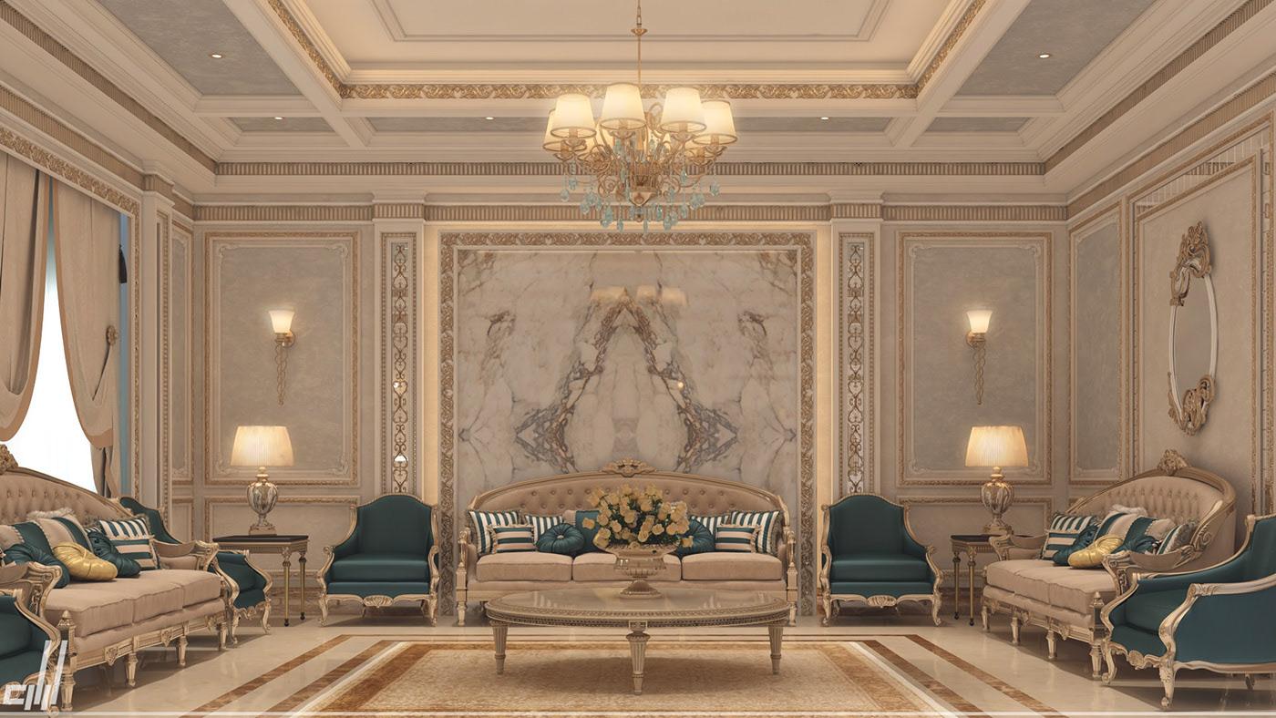 biệt thự cổ điển phòng khách