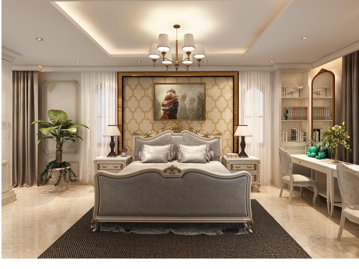 biệt thự cổ điển cao cấp phòng ngủ