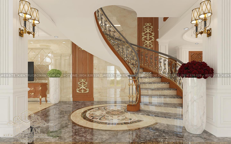 biệt thự cổ điển kiểu pháp cầu thang