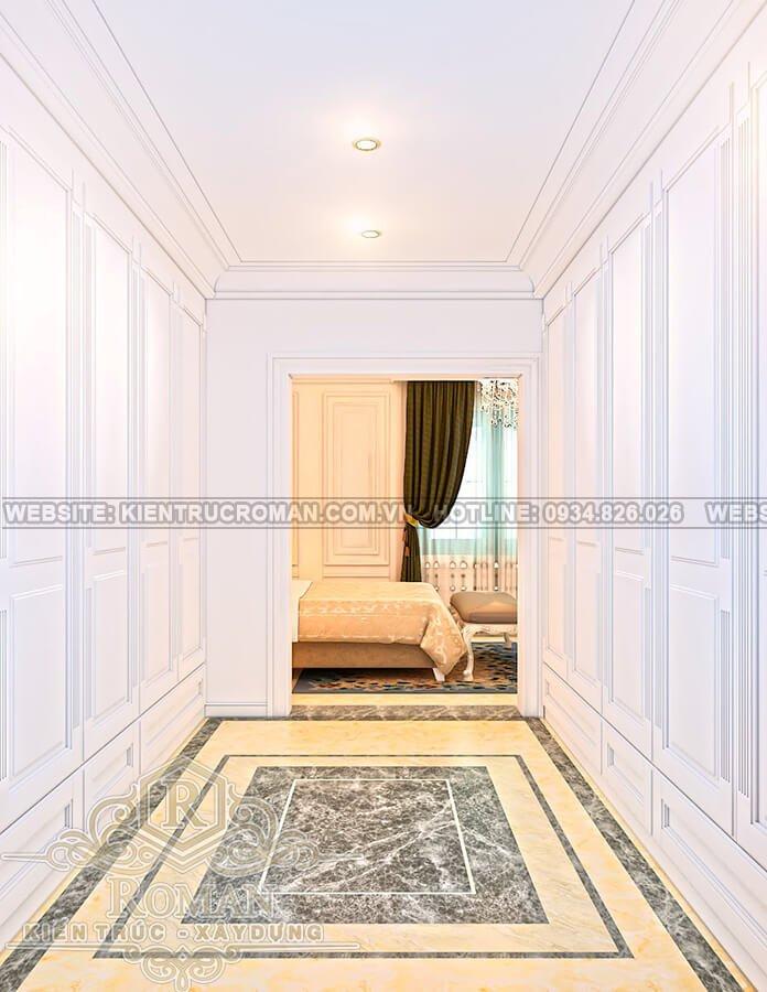biệt thự cổ điển kiểu pháp hành lang
