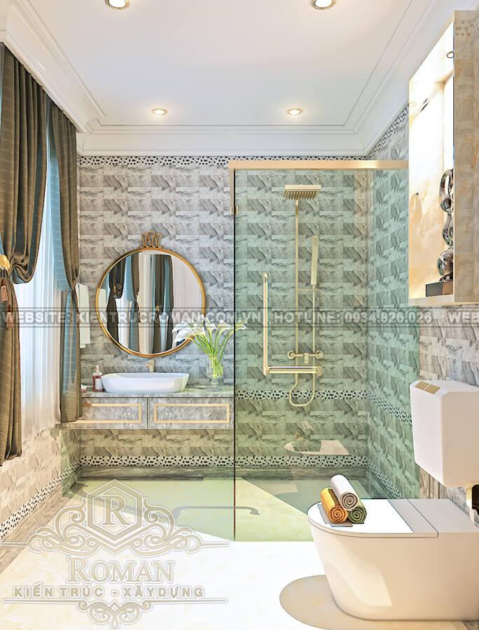 biệt thự cổ điển kiểu pháp phòng tắm