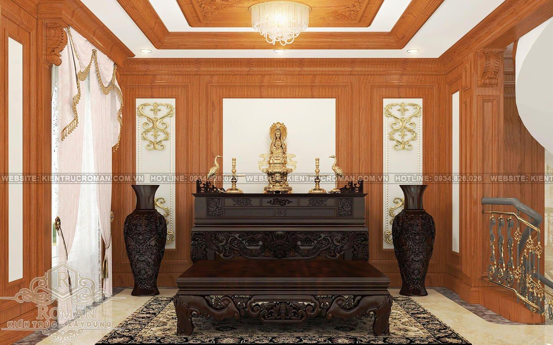 biệt thự cổ điển kiểu pháp phòng thờ