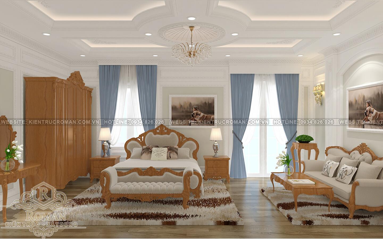 biệt thự cổ điển pháp phòng ngủ master