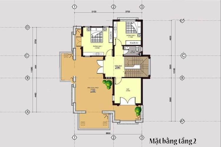 biệt thự có sân thượng 8x14m