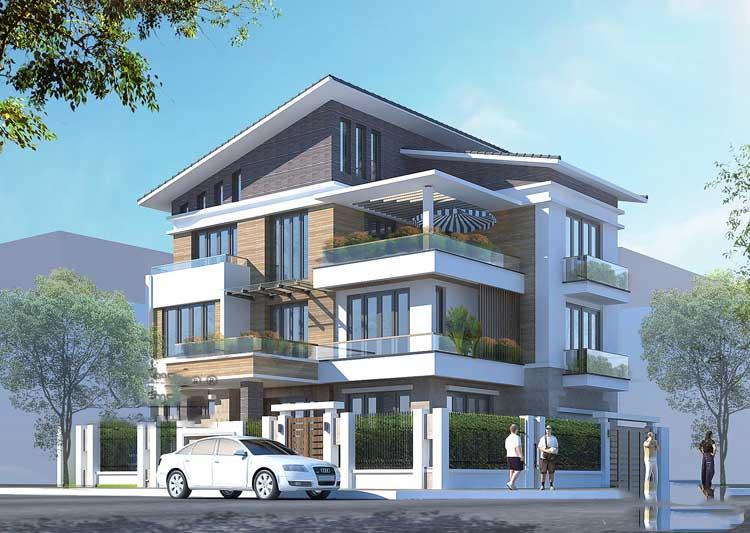 thiết kế mẫu biệt thự đẹp 3 tầng 6