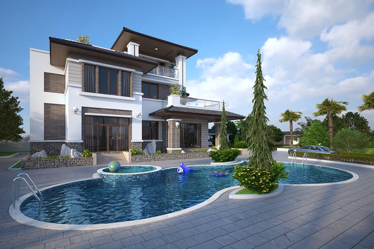 biệt thự đẹp phong cách hiện đại 4
