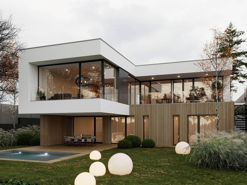 biệt thự đẹp phong cách hiện đại 42