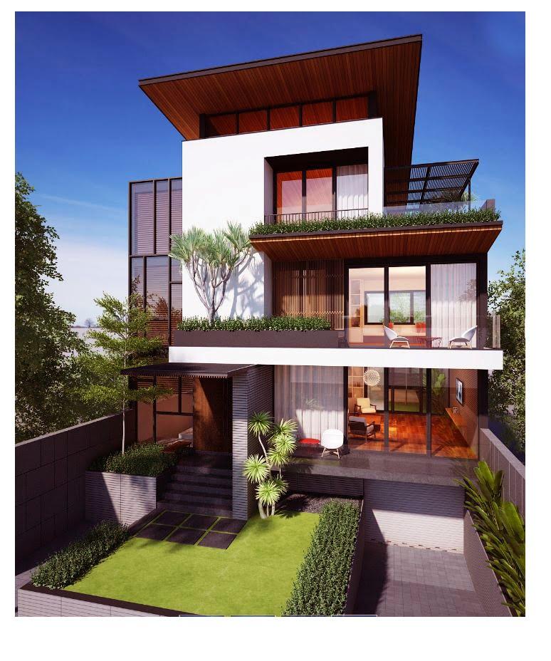 biệt thự đẹp phong cách hiện đại 9