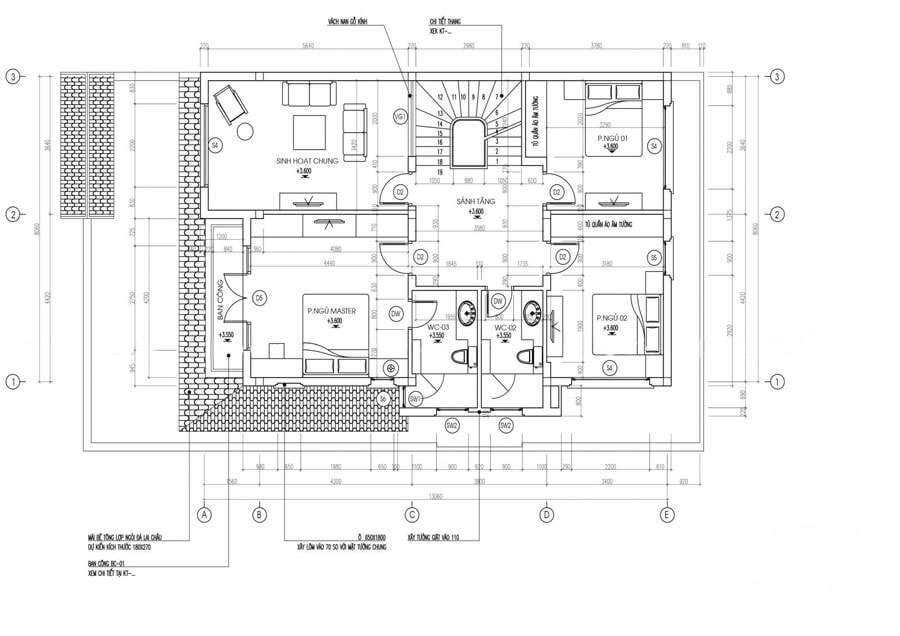 biệt thự hiện đại 10x18m