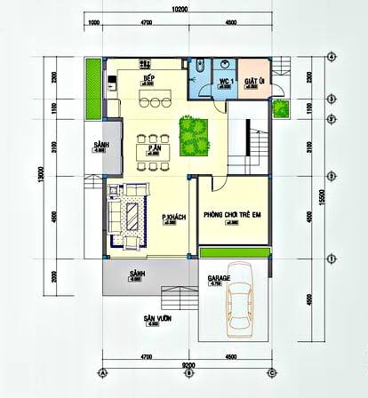 biệt thự hiện đại 10x25m