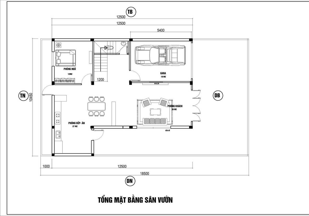 biệt thự hiện đại 11x13