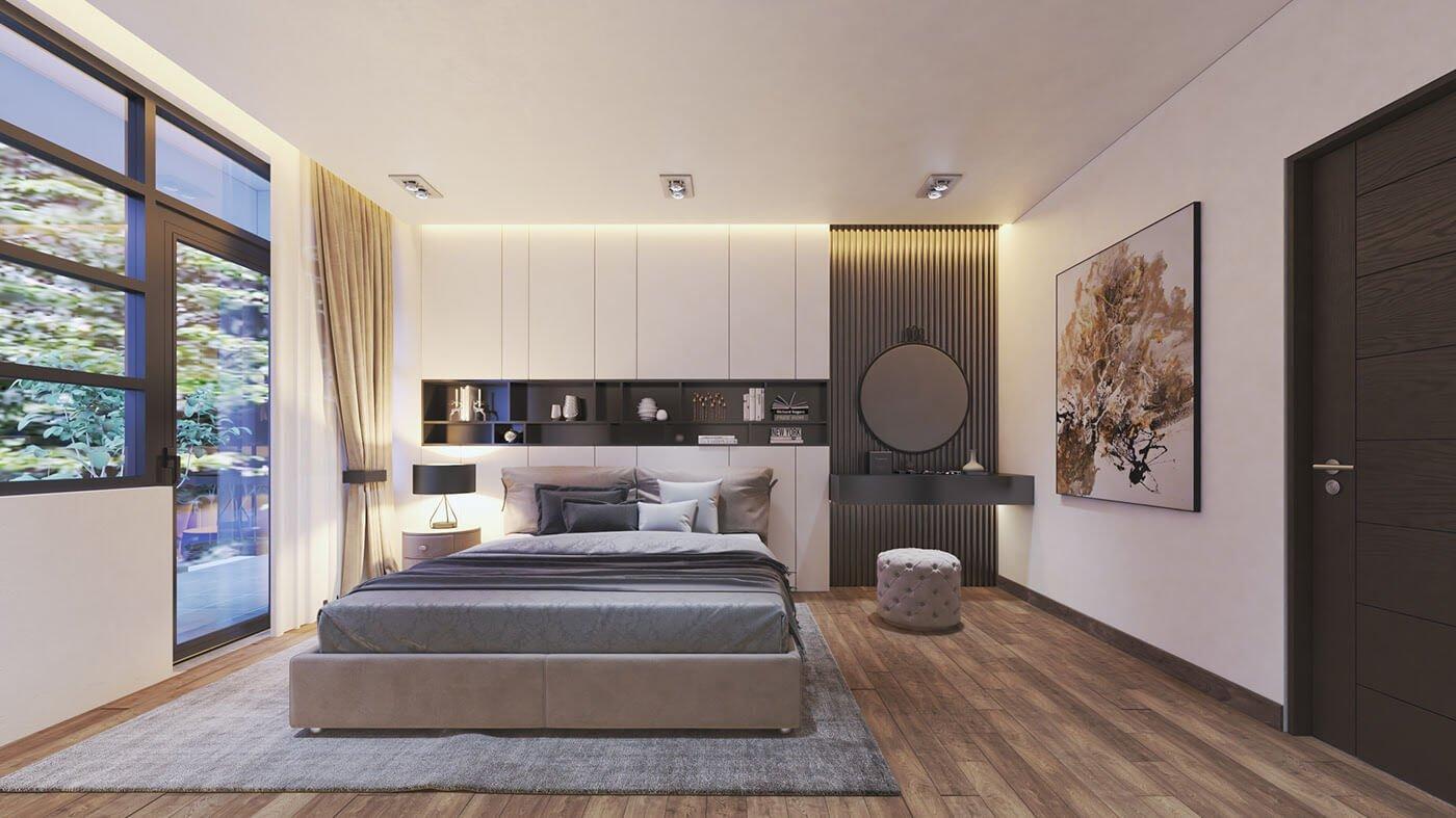 biệt thự hiện đại 140m2 phòng ngủ
