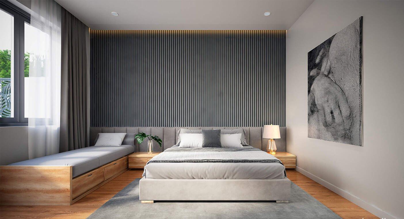 biệt thự hiện đại 15x20m phòng ngủ master