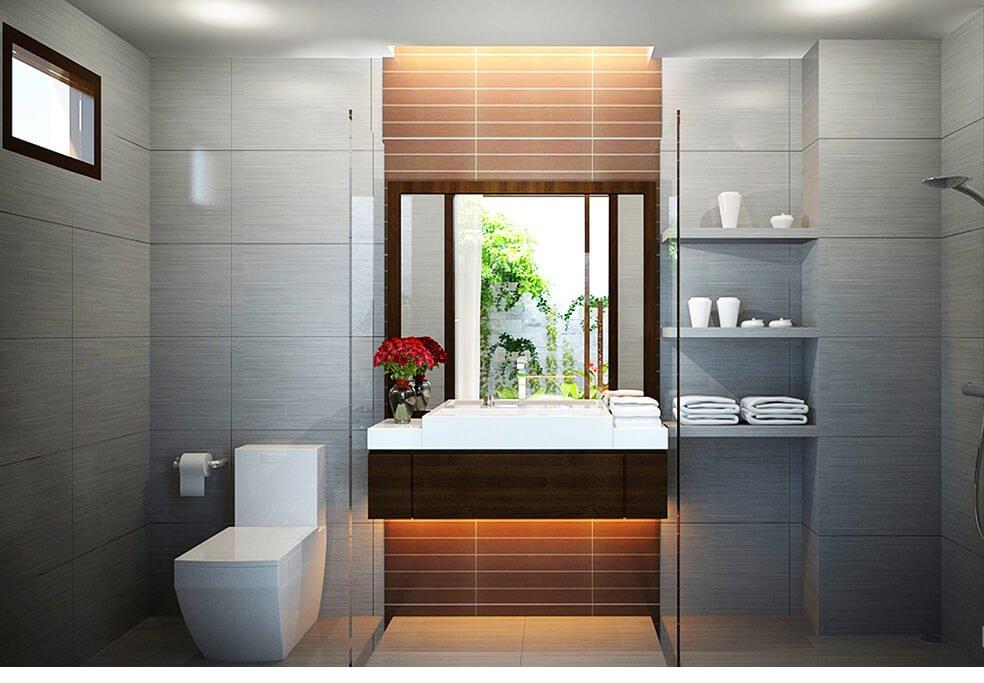 biệt thự hiện đại 15x20m phòng tắm