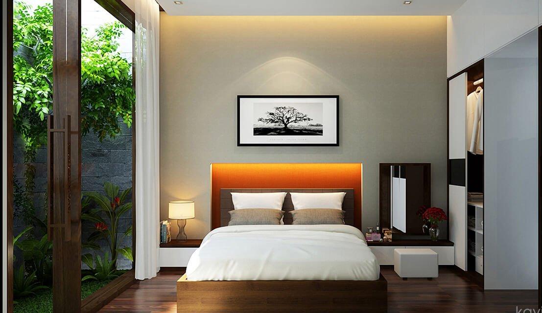 biệt thự hiện đại 15x20m phòng ngủ