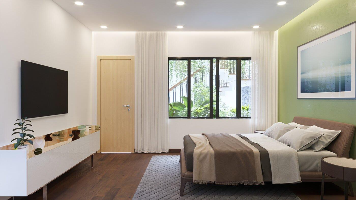 biệt thự hiện đại 160m2 phòng ngủ
