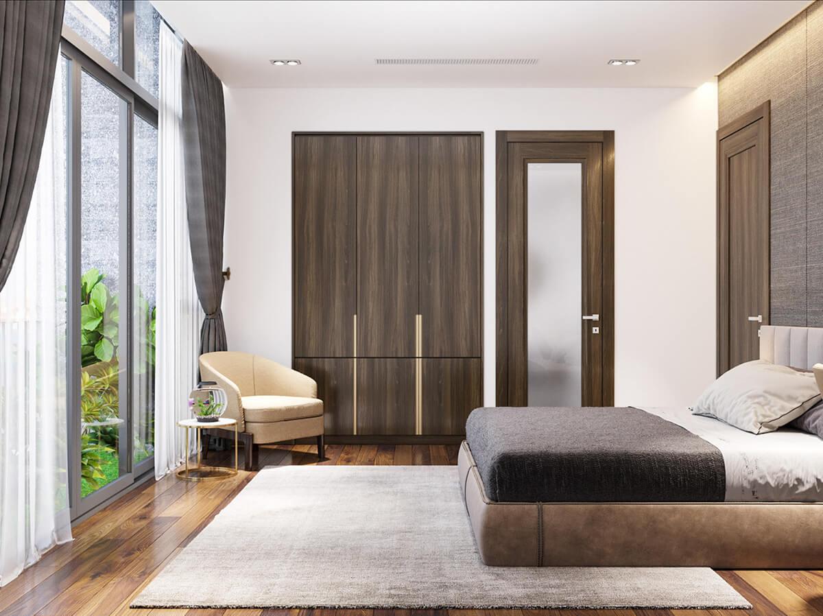 biệt thự hiện đại 2 mặt tiền phòng ngủ
