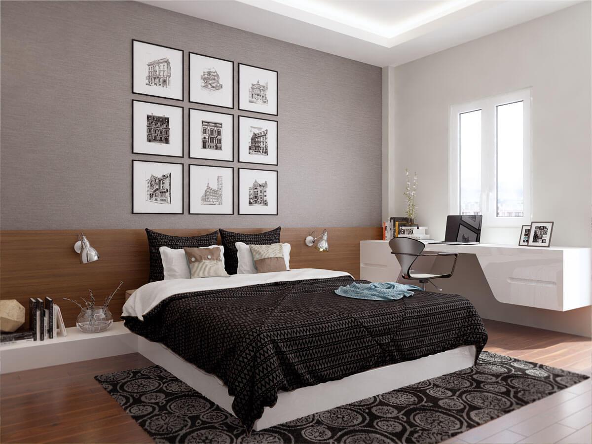 biệt thự hiện đại 2 tầng phòng ngủ