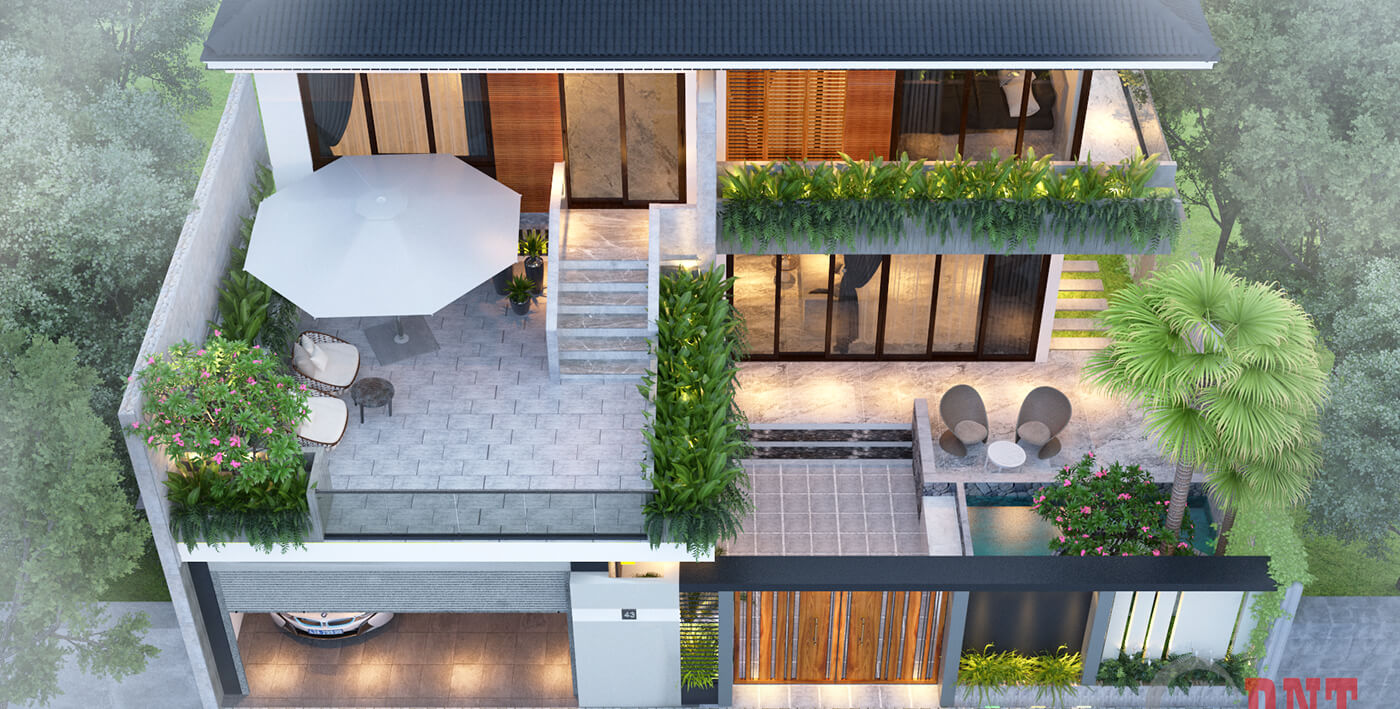 biệt thự hiện đại 2 tầng đẹp