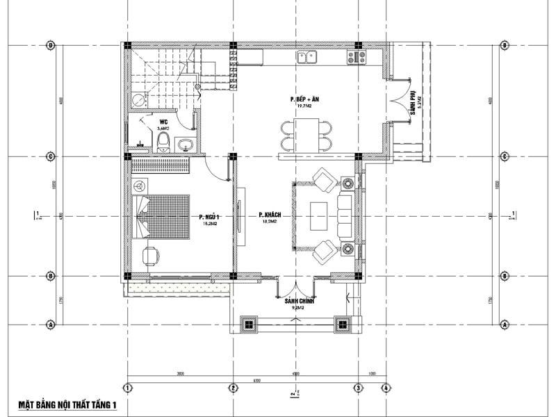 biệt thự hiện đại 3 tầng