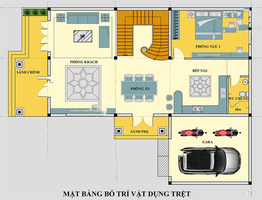 biệt thự hiện đại 5 phòng ngủ