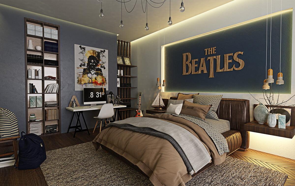 biệt thự hiện đại cao cấp phòng ngủ