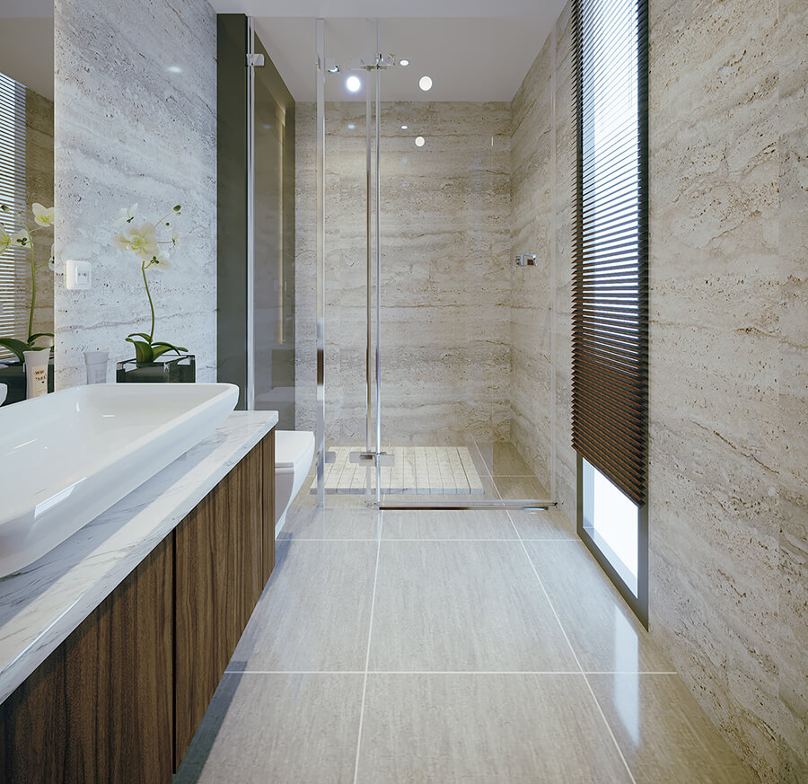 biệt thự hiện đại mái thái phòng tắm