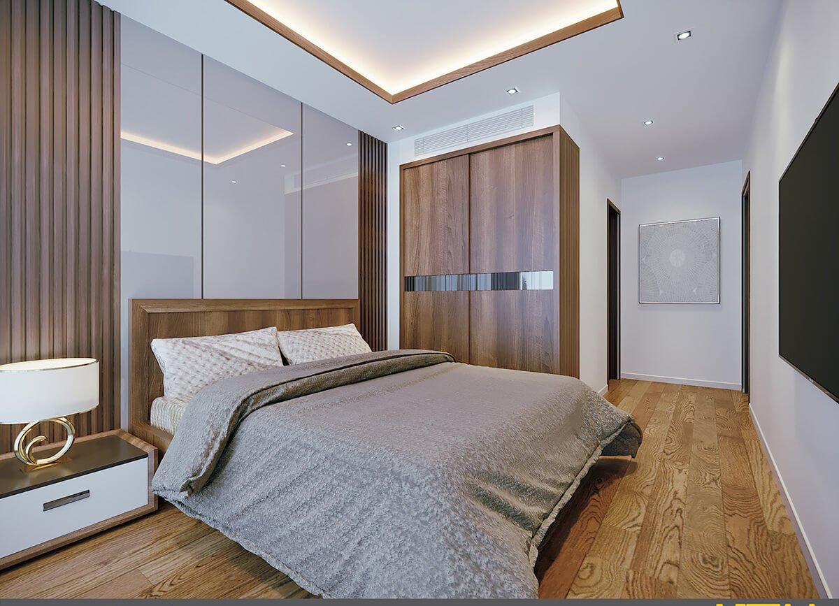 biệt thự hiện đại mái thái phòng ngủ