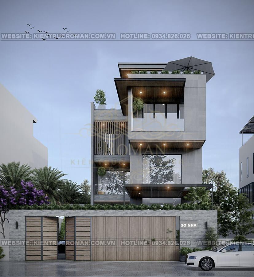 biệt thự hiện đại ở Sài Gòn phối cảnh