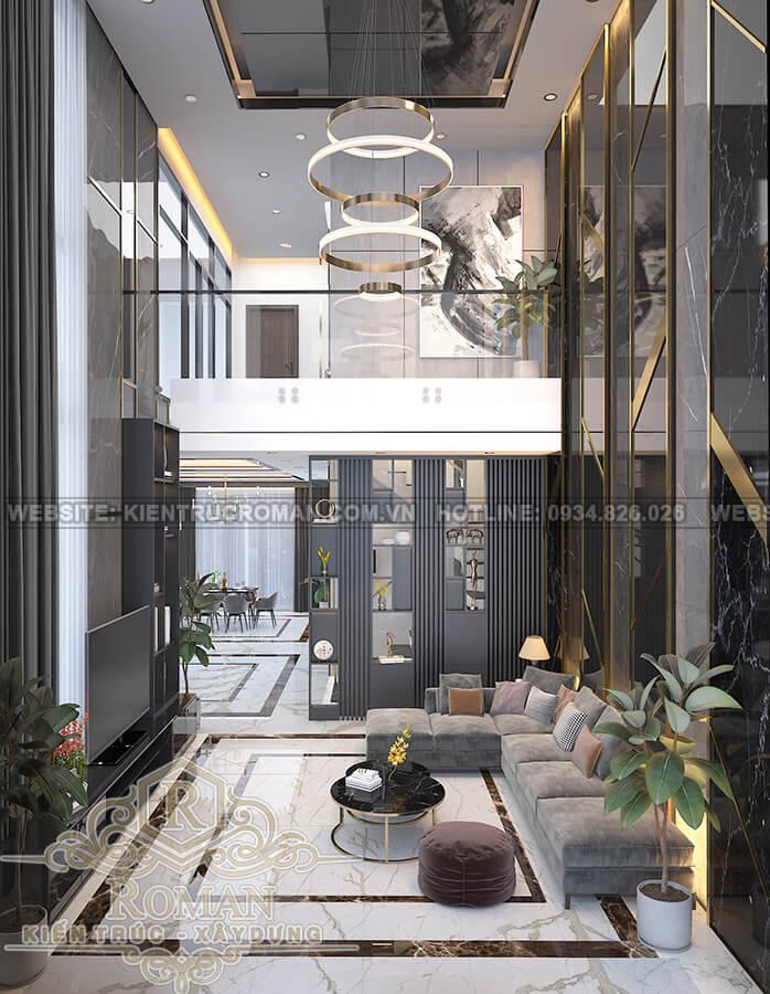 biệt thự hiện đại ở Sài Gòn phòng khách