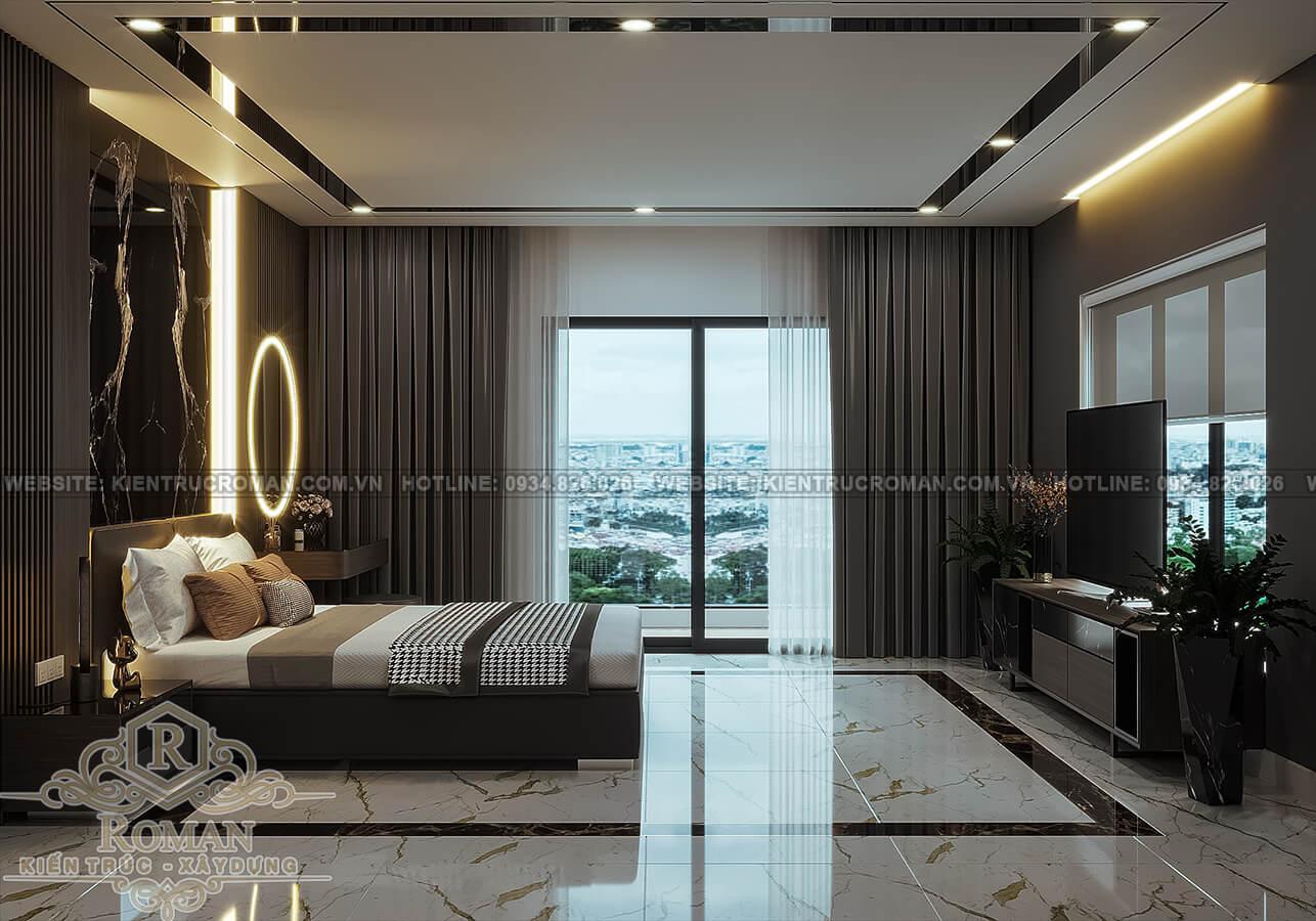 biệt thự hiện đại ở Sài Gòn phòng ngủ master