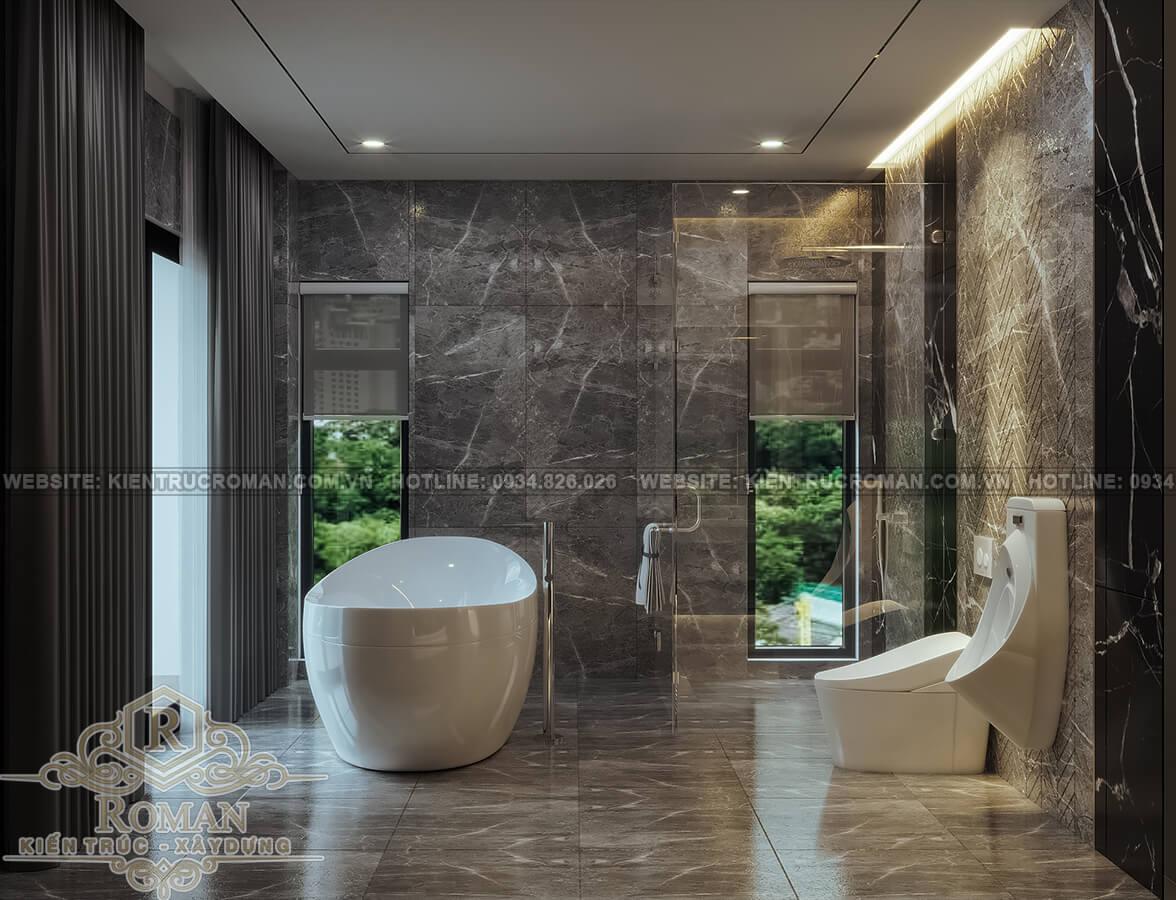 biệt thự hiện đại ở Sài Gòn phòng tắm master