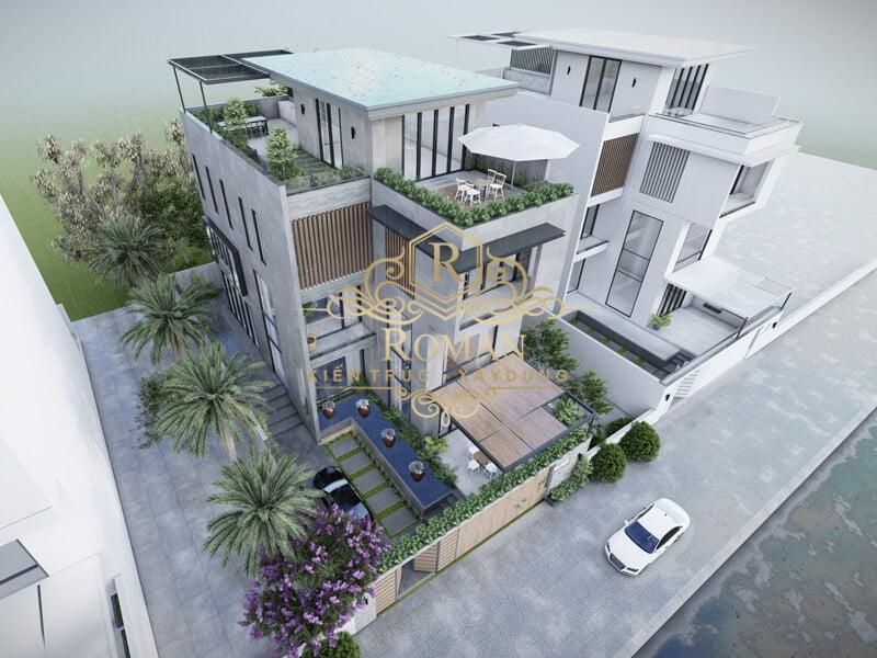 biệt thự hiện đại ở Sài Gòn