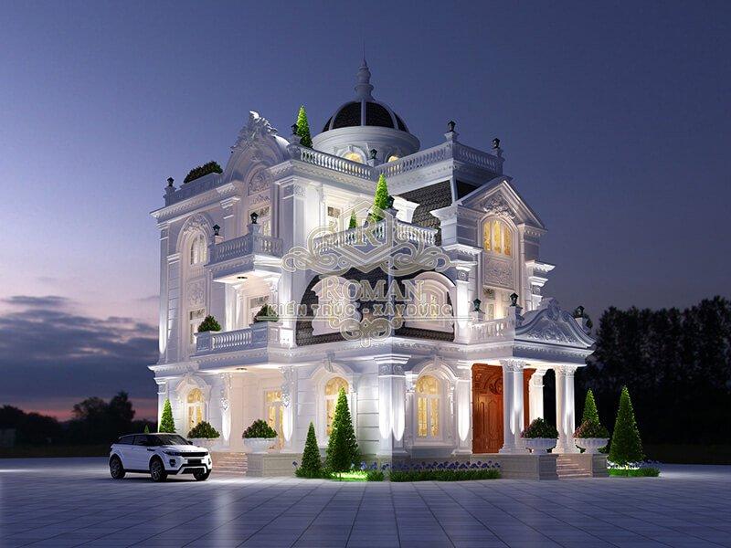 Biệt thự kiến trúc cổ điển đẹp không thể rời mắt