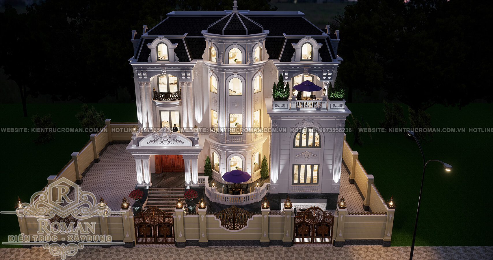 biệt thự kiến trúc pháp 1