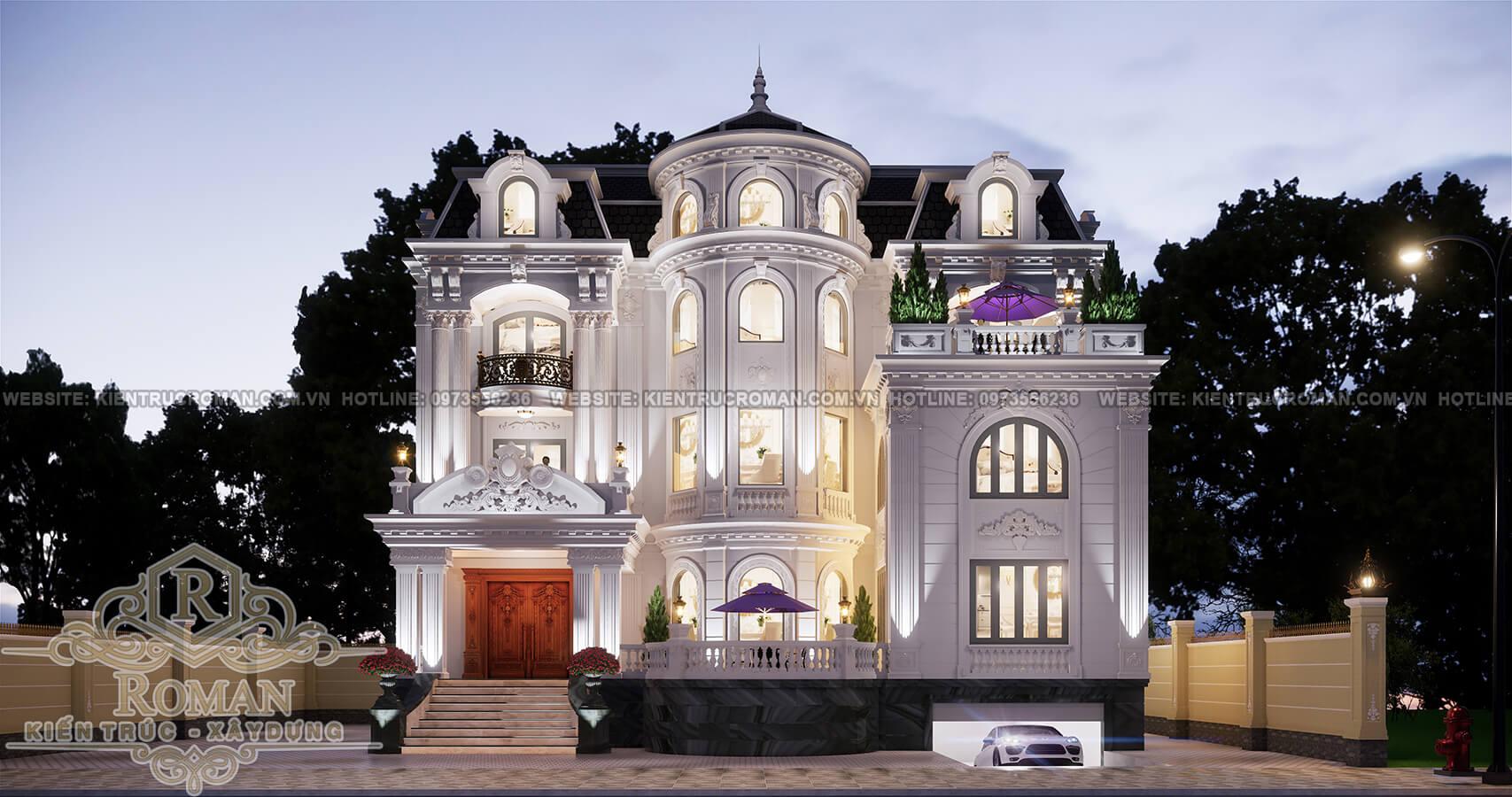 biệt thự kiến trúc pháp 3
