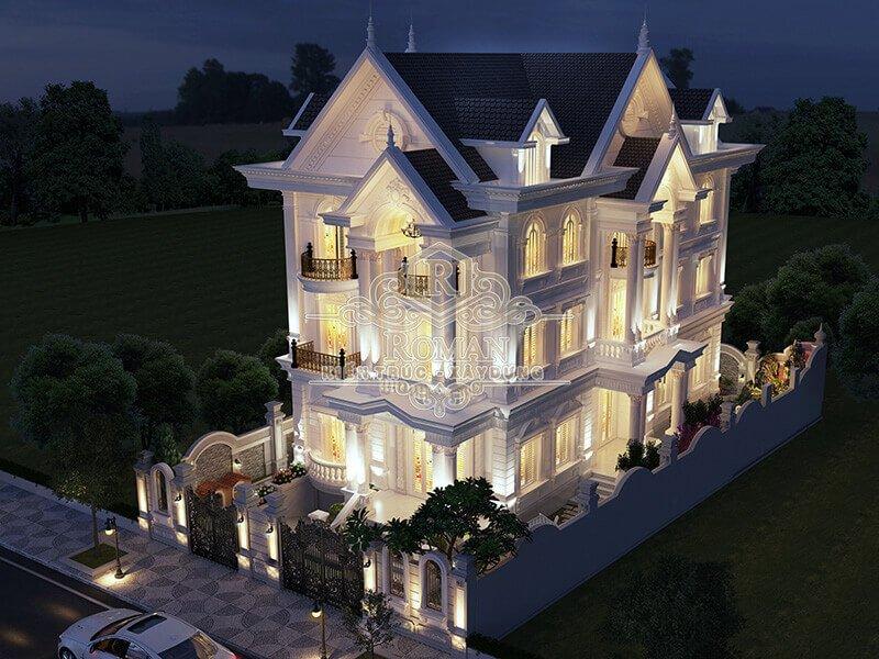 biệt thự kiến trúc tân cổ điển