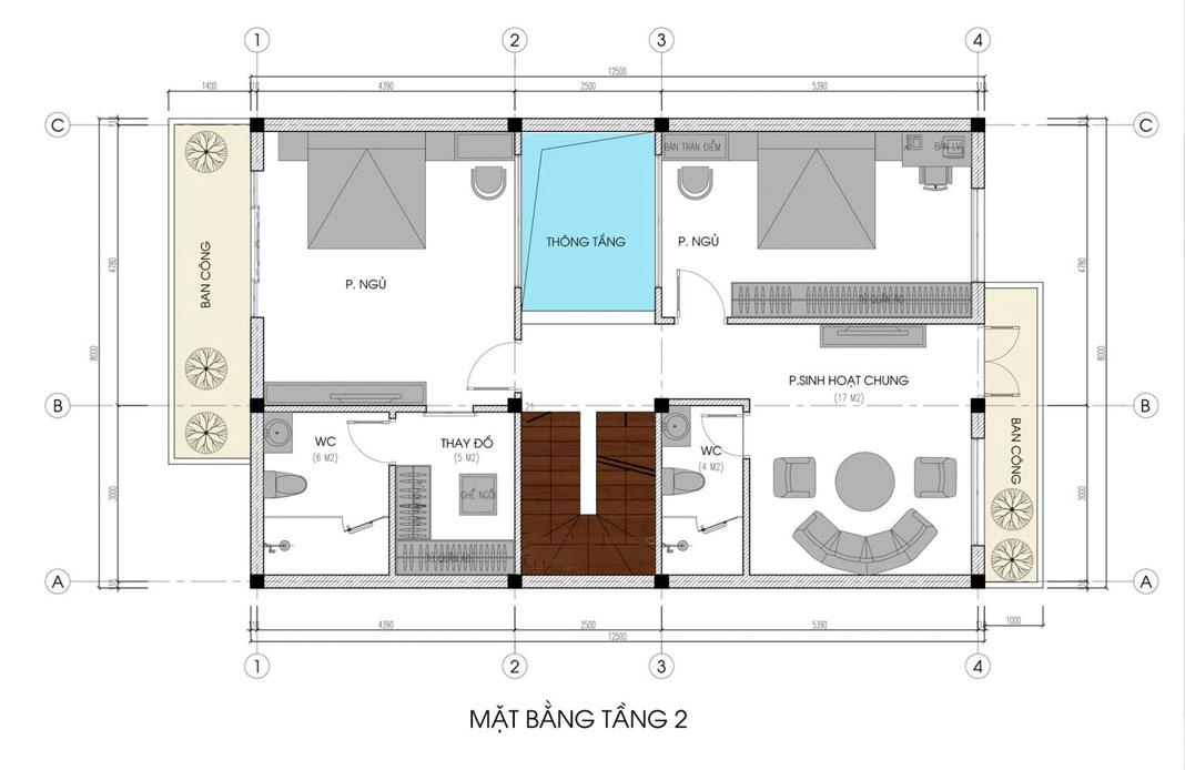 biệt thự kiểu châu âu 3 tầng