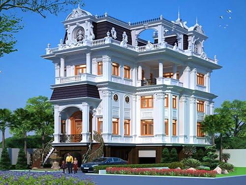 biệt thự kiểu cổ điển 5 tầng