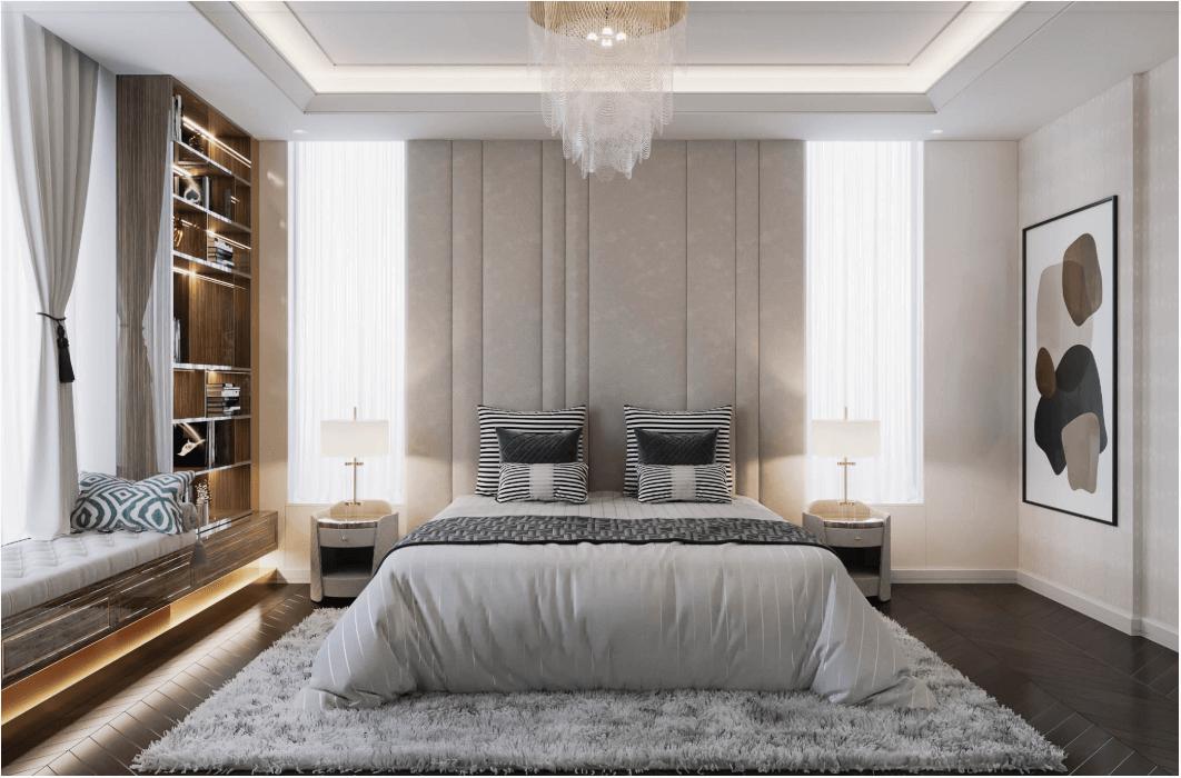 biệt thự kiểu hiện đại đẹp 3 tầng phòng ngủ