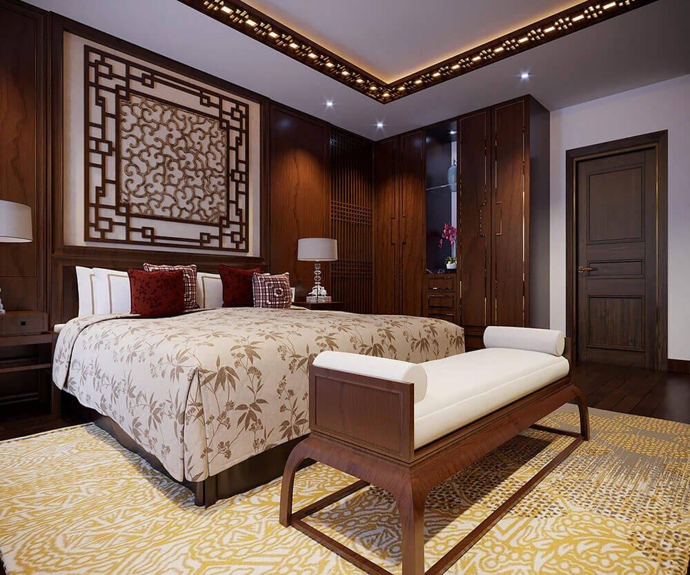 biệt thự kiểu Pháp 10x25m phòng ngủ