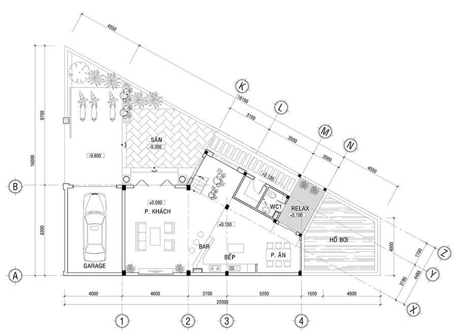 biệt thự kiểu pháp 2 tầng 80m2