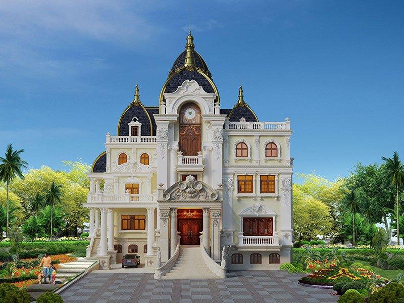 biệt thự lâu đài 4 tầng 360m2 1